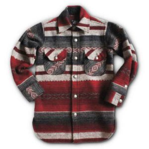 Sterling Mountain Wool Long Tail Shirt w/ Pewer Buttons