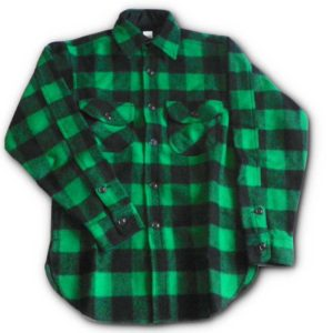 "Long Tail Button Shirt - Green & Black 2"" Buffalo"