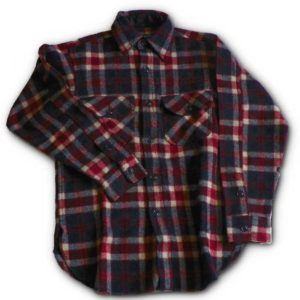 Long Tail Button Shirt - American Red, White & Blue