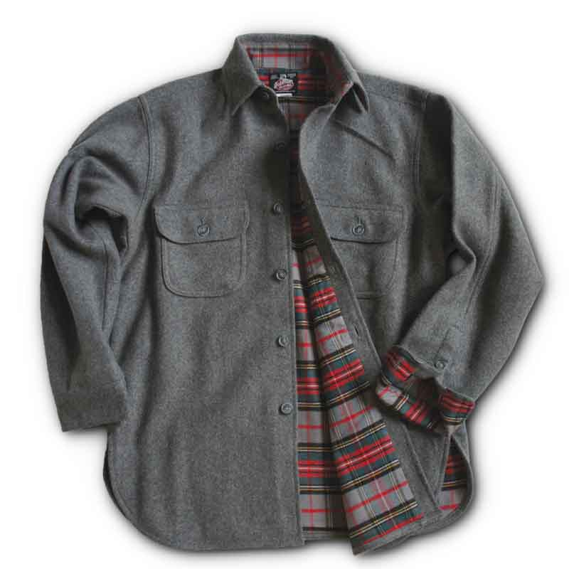 Flannel Lined Wool Button Shirts Johnson Woolen Mills