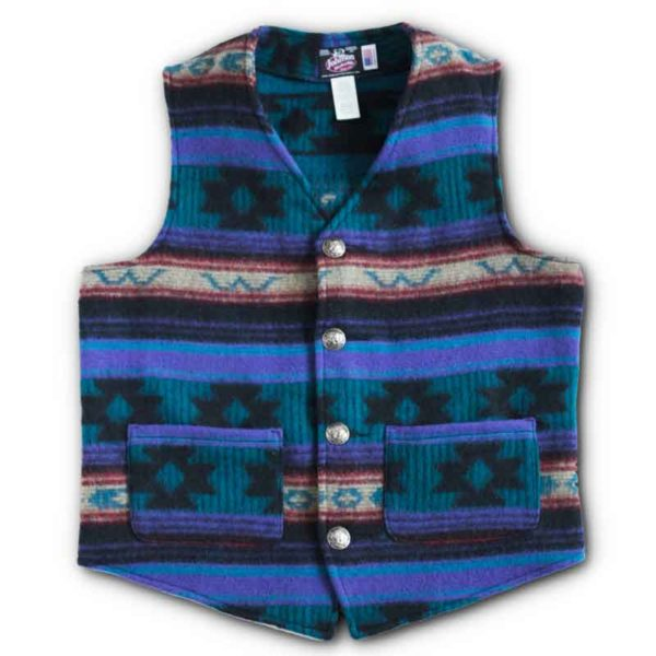 Brushed Nickel Buffalo Button Vest - Madonna Mountain Color