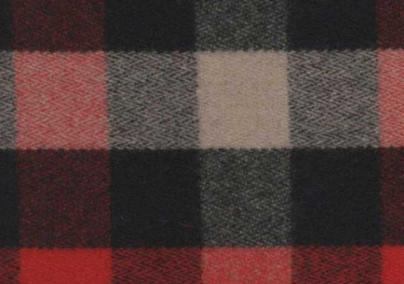 Red, Ivory & Black 2 in. Buffalo Check - Style 14