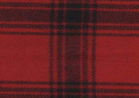 Bright Red & Black Muted Plaid - Style 32
