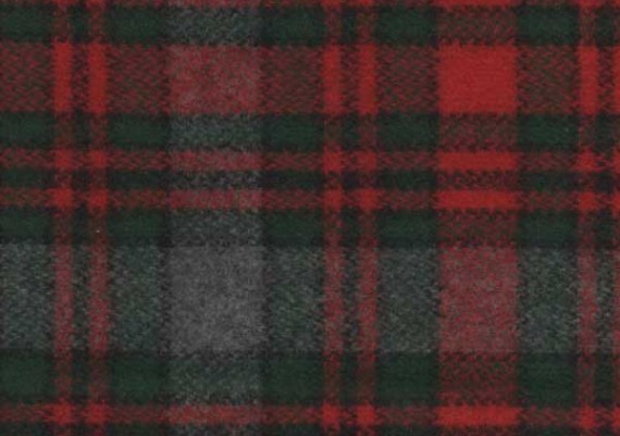 Gray, Red & Green Plaid - Style 37
