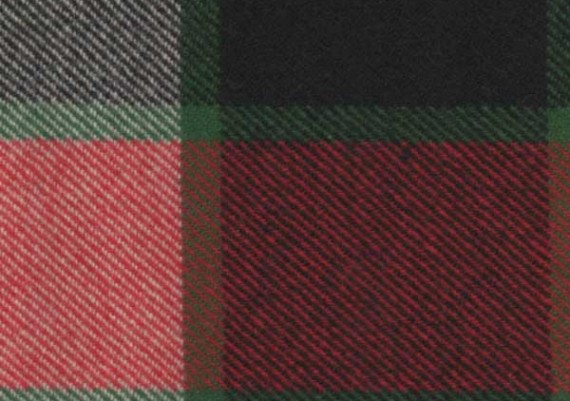 Old Canadian Plaid - Rust, Green, Ivory & Black Plaid - Style 43