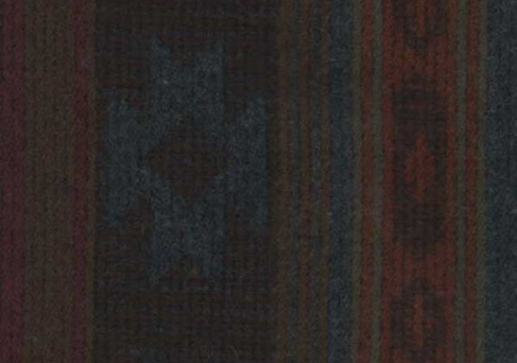 Teal Trading Post - Blue, Brown & Rust Print - Style 62