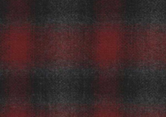 Red, Black & Gray Muted Plaid - Style 67