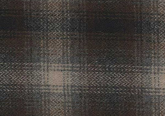 Gray, Brown & Black Muted Plaid - Style 88