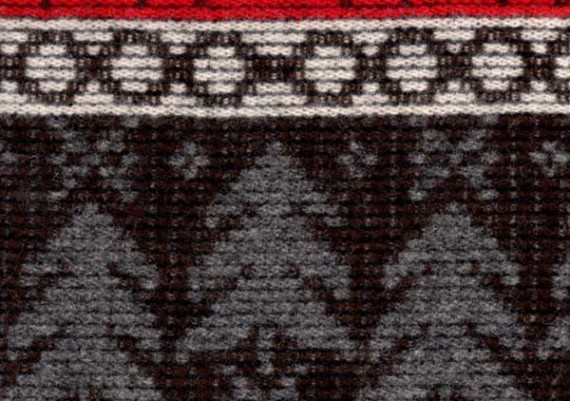 Fenced Wilderness - Red, Cream & Gray Print - Style 93
