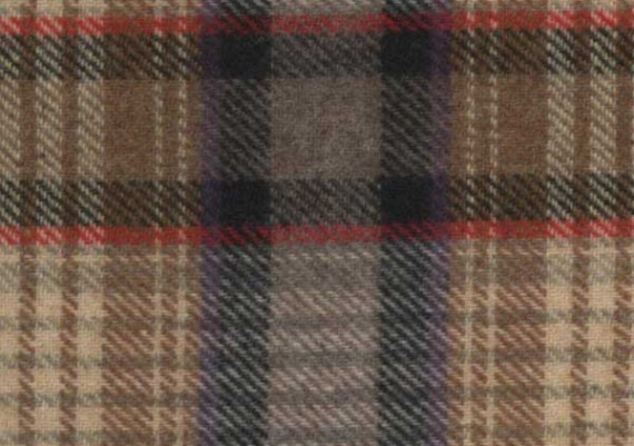 Gold, Black & Red Plaid - Style E