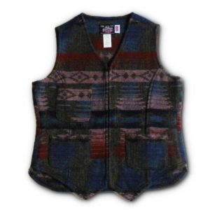 Ladie's Wool Vest - Cold Hollow (Blue Cranberry & Pink)
