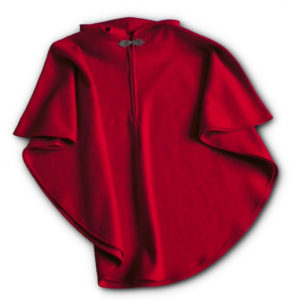 Women's Wool Poncho - Scarlet Red