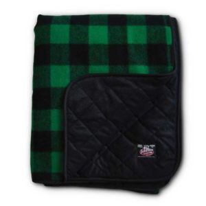 "Wilderness Throw - Green & Black 2"" Buffalo"