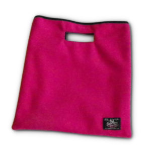 Wool Clutch Hand Bag - Pink