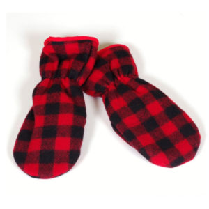 "Family Style Mittens - Red & Black 1"" Buffalo"
