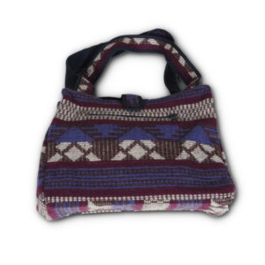 Medium Woolen Tote Bag - Plum Pearl Print