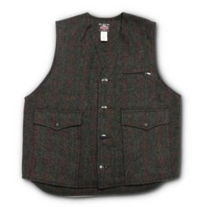 Customized vest in Adirondack Plaid