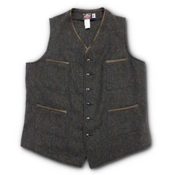Custom Vest w/ Leather trimmed pockets