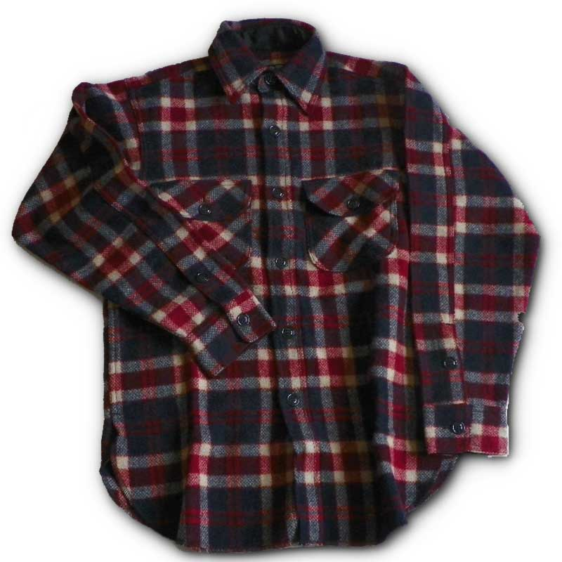 Wool Long Tail Button Down Shirts Johnson Woolen Mills