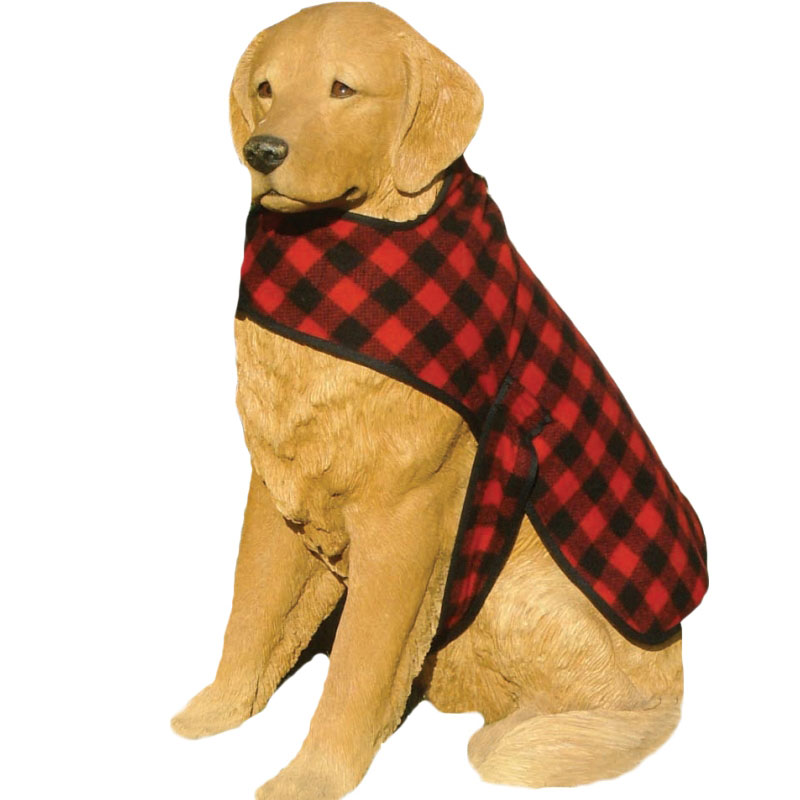 "Woolen Dog Coat - Red & Black 1"" Buffalo"