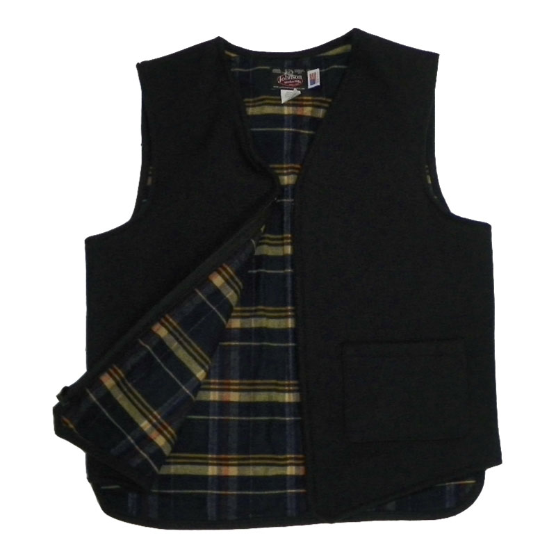 Flannel Lined Vest - Night Navy